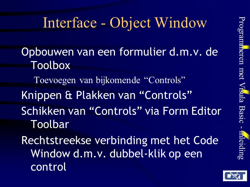 Interface - Object Window