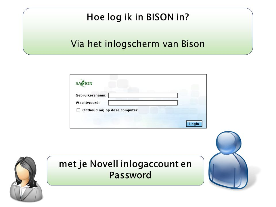 met je Novell inlogaccount en Password