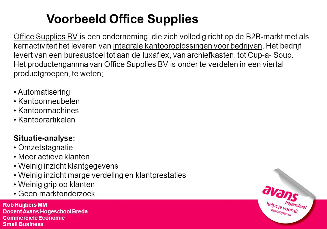Voorbeeld Office Supplies
