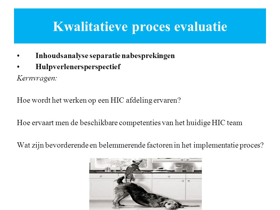 Kwalitatieve proces evaluatie