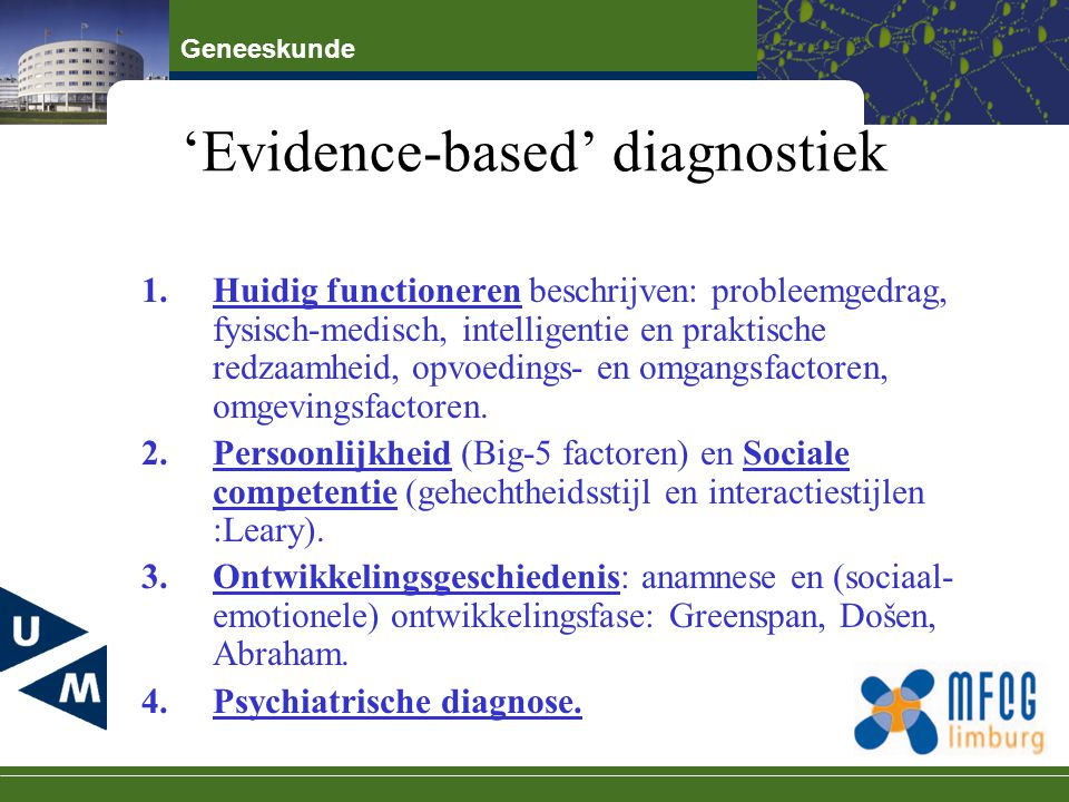'Evidence-based' diagnostiek