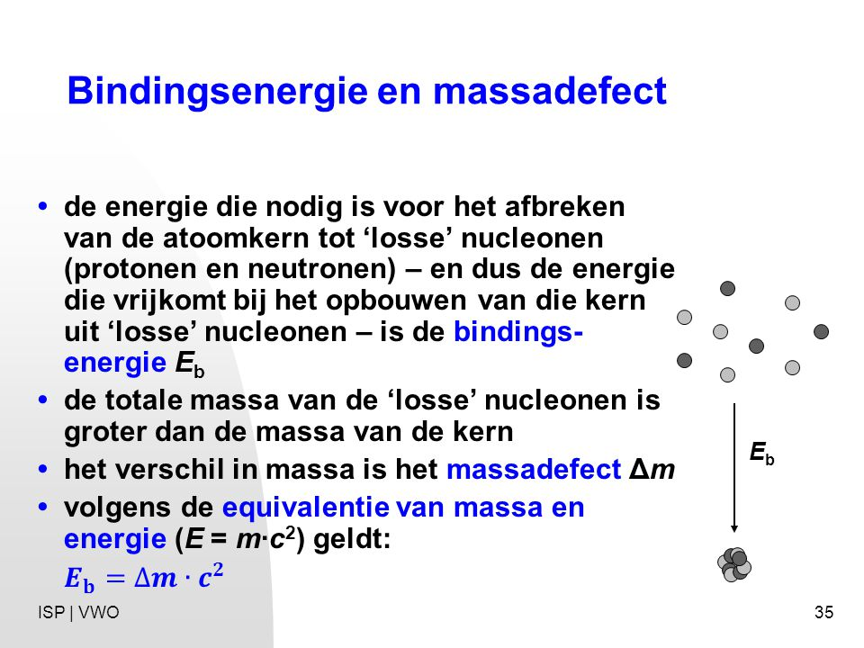 Bindingsenergie en massadefect