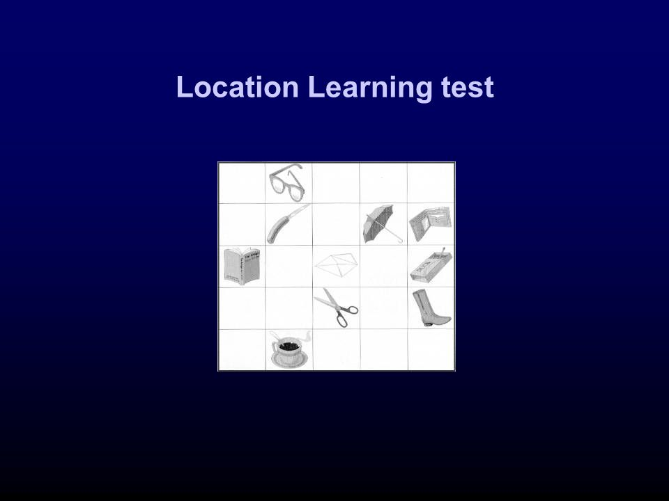 Location Learning test