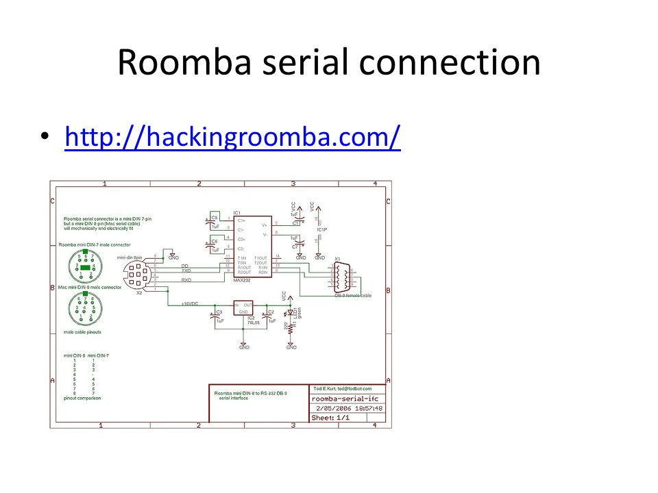 Roomba serial connection
