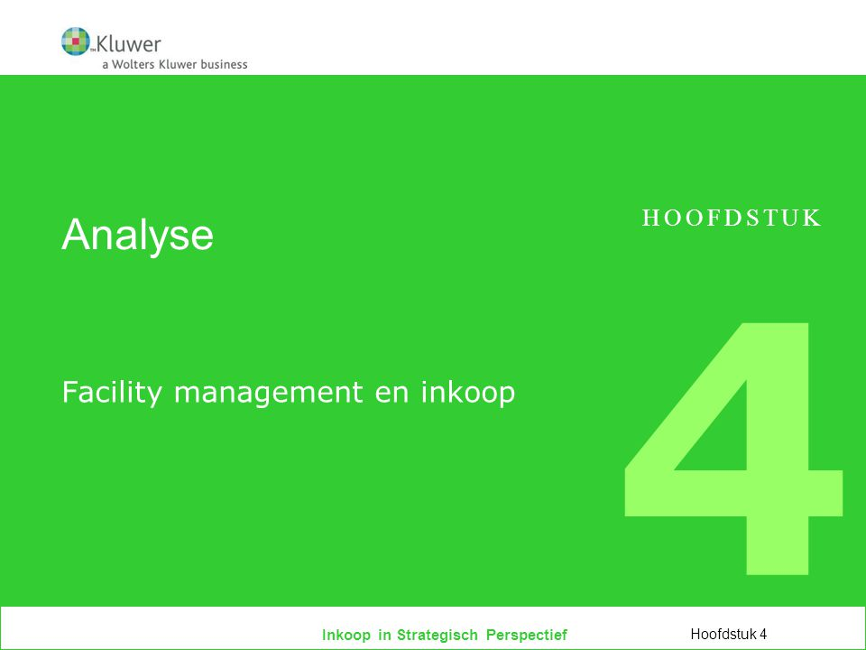 Facility management en inkoop