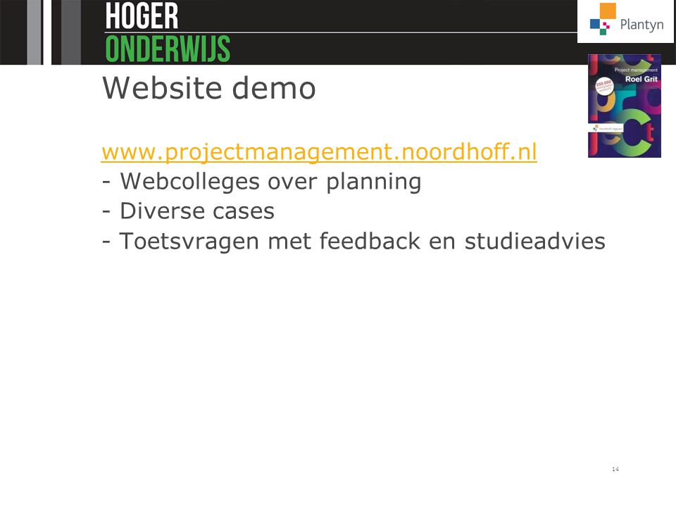 Website demo www.projectmanagement.noordhoff.nl