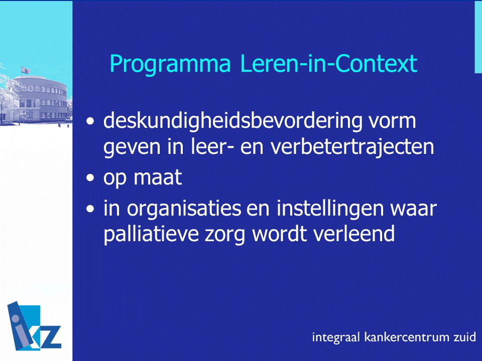 Programma Leren-in-Context