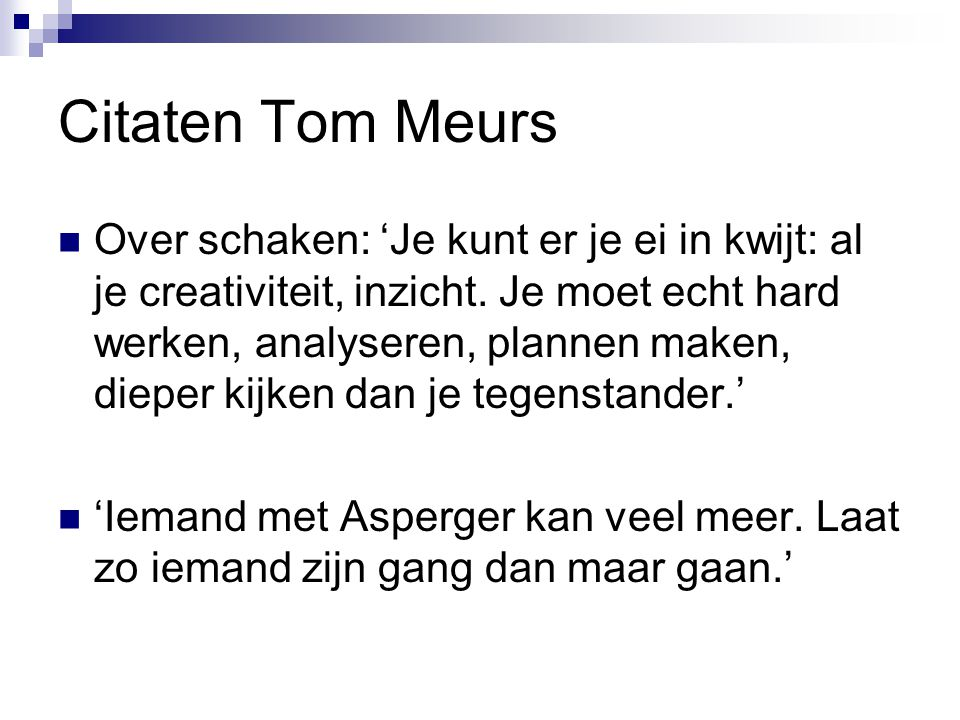 Citaten Tom Meurs