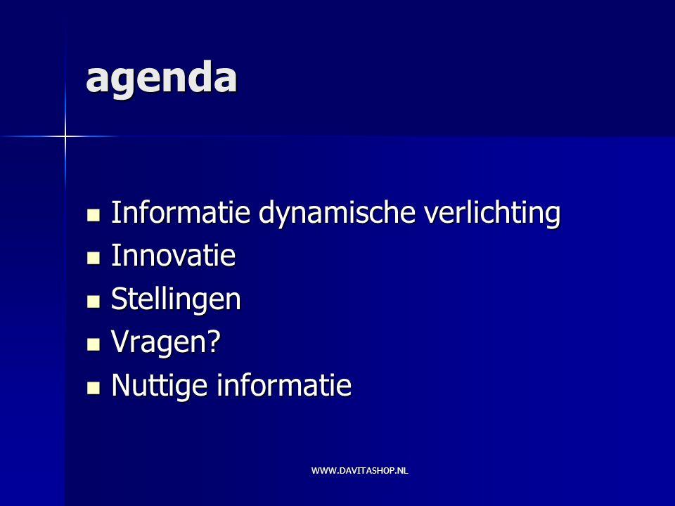 agenda informatie dynamische verlichting innovatie stellingen vragen