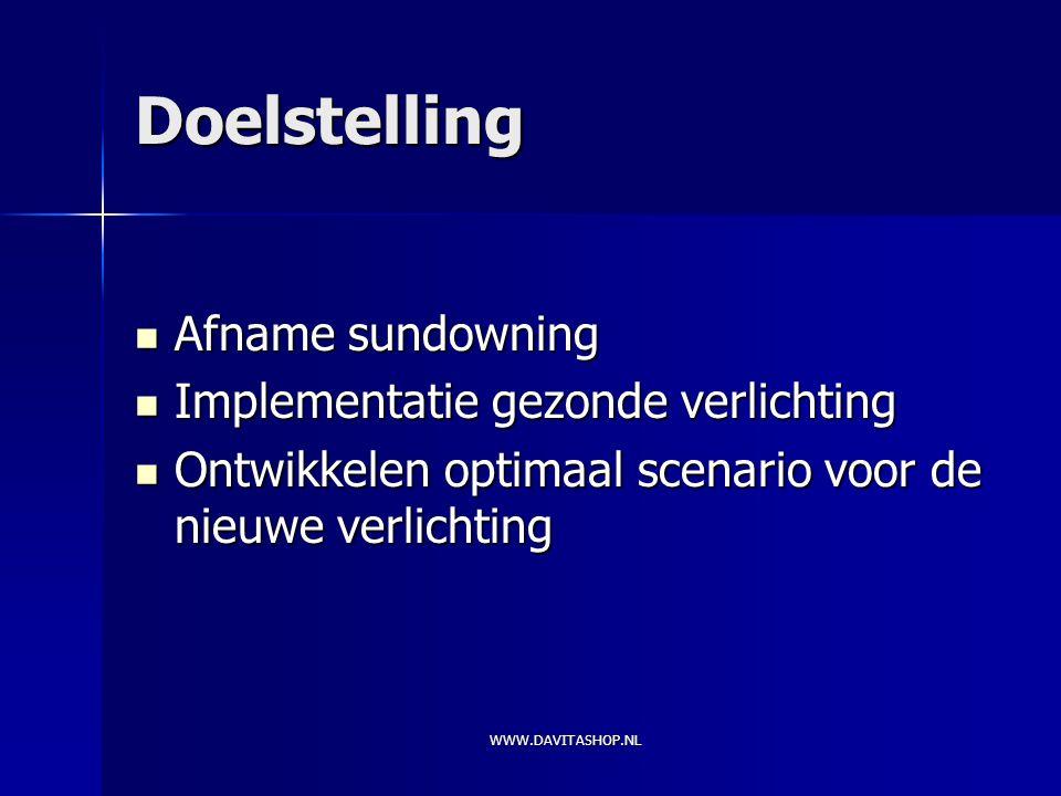 doelstelling afname sundowning implementatie gezonde verlichting