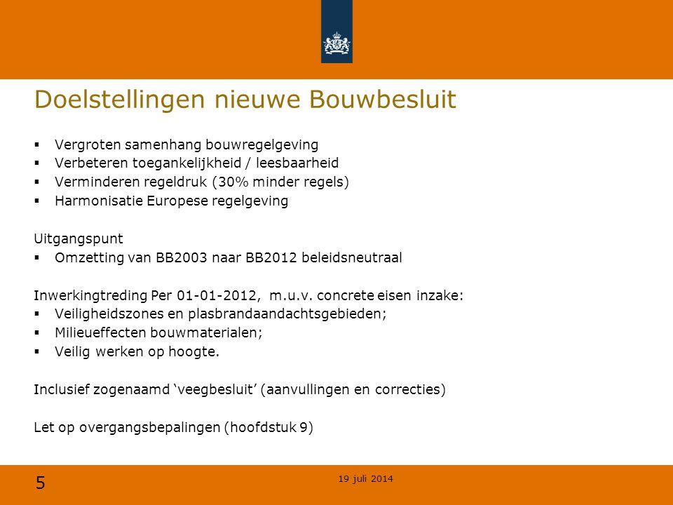 Bouwbesluit 2012, de wijzigingen - ppt download