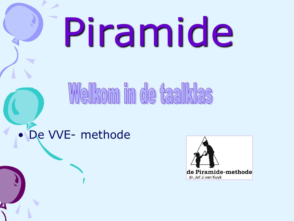 Piramide Welkom in de taalklas De VVE- methode
