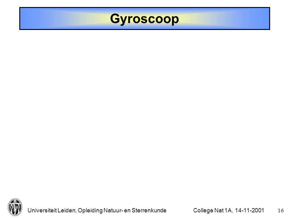 Gyroscoop College Nat 1A,