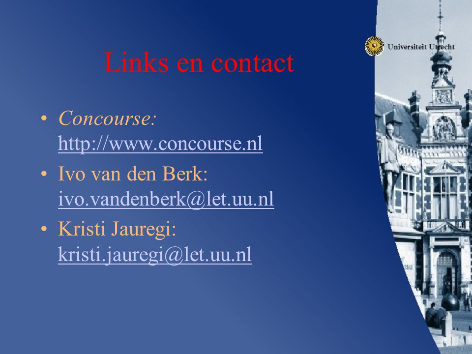 Links en contact Concourse: