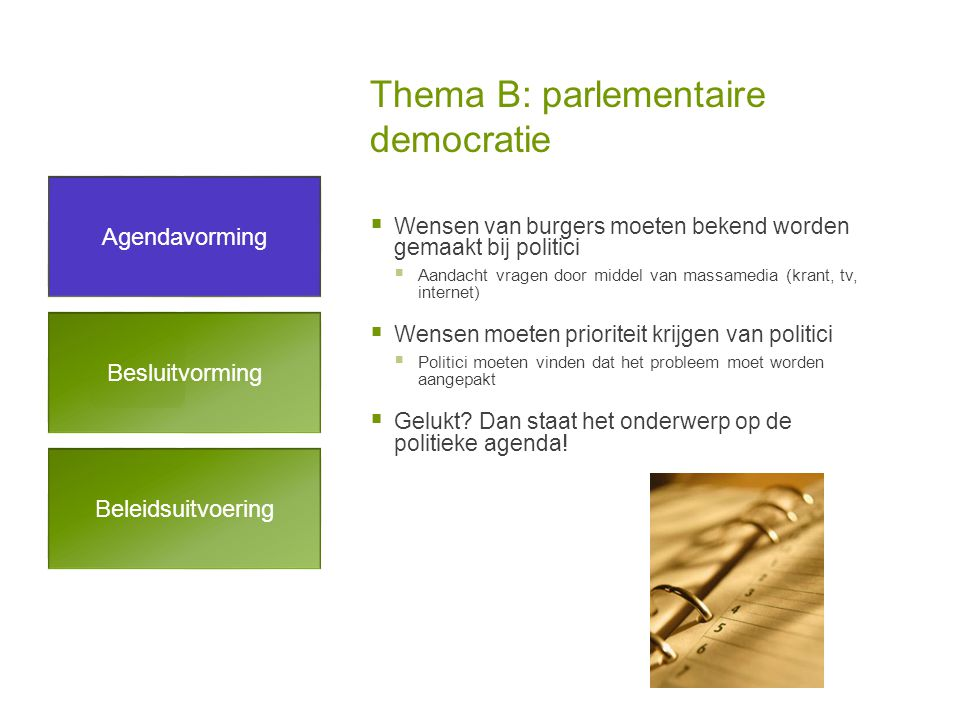 Thema B: parlementaire democratie