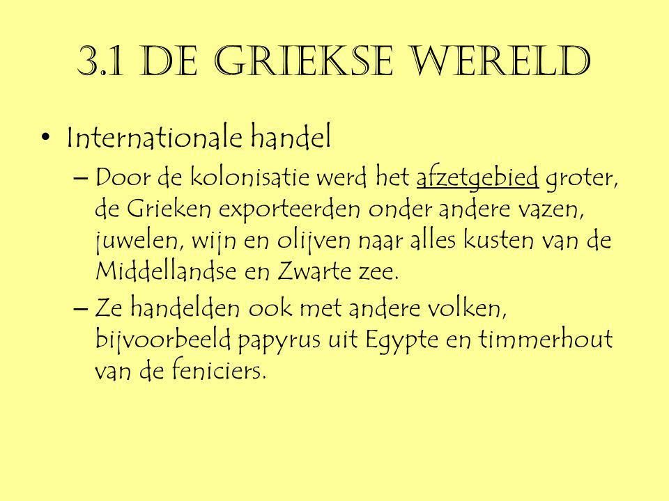 3.1 De Griekse wereld Internationale handel