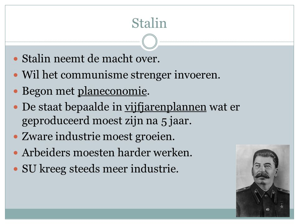Stalin Stalin neemt de macht over.