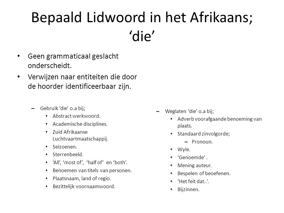 Afrikaans zwart geslacht