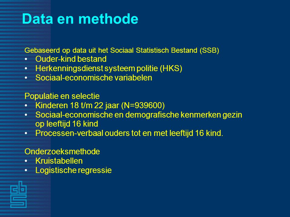 Data en methode Ouder-kind bestand