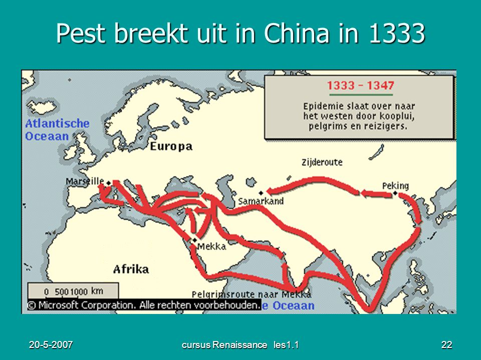 Pest breekt uit in China in 1333