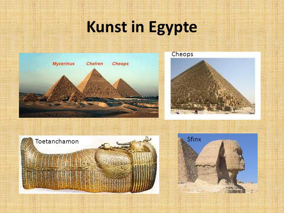 Kunst in Egypte Cheops Sfinx Toetanchamon