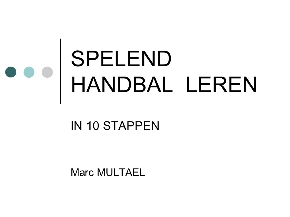 IN 10 STAPPEN Marc MULTAEL
