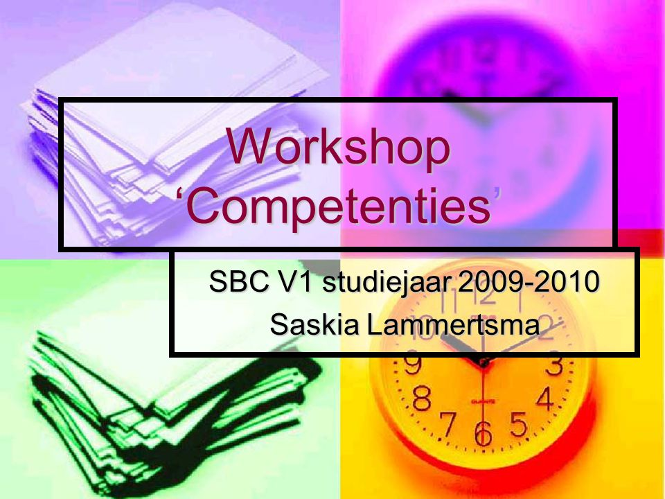 Workshop 'Competenties'