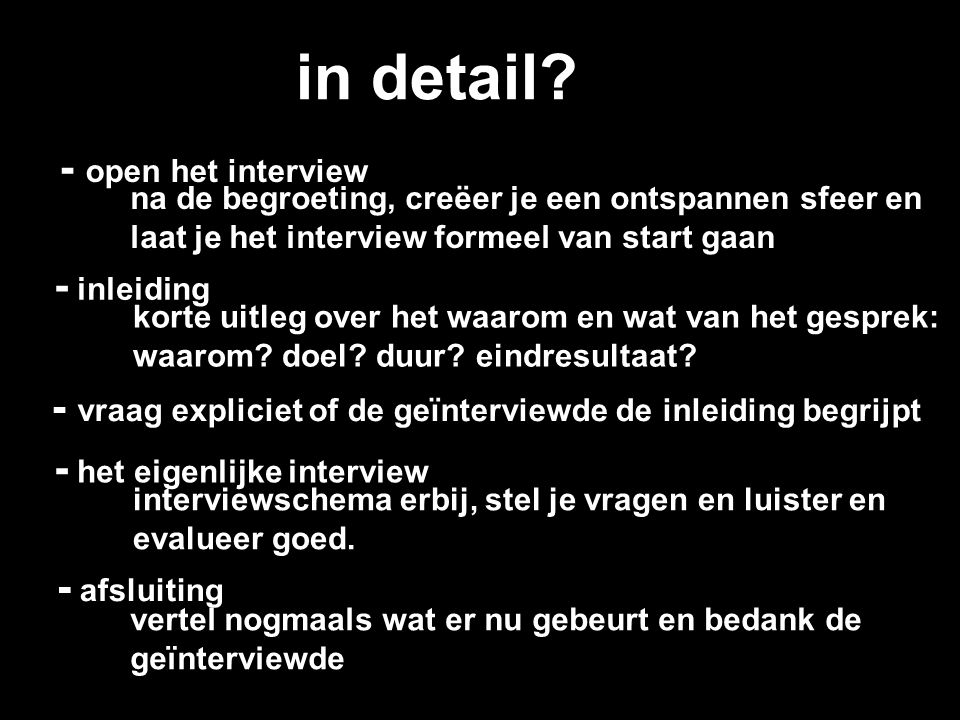 in detail - open het interview - inleiding