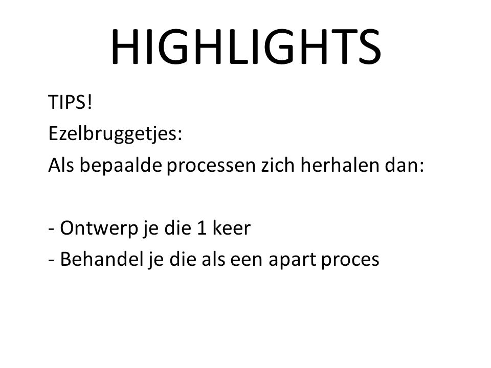 HIGHLIGHTS TIPS.