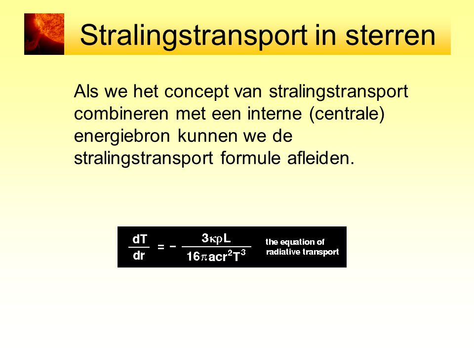 Stralingstransport in sterren