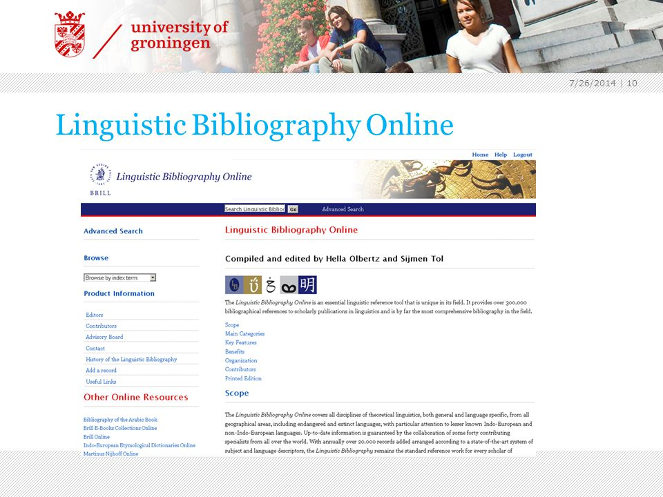 Linguistic Bibliography Online