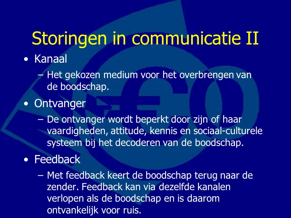 Storingen in communicatie II