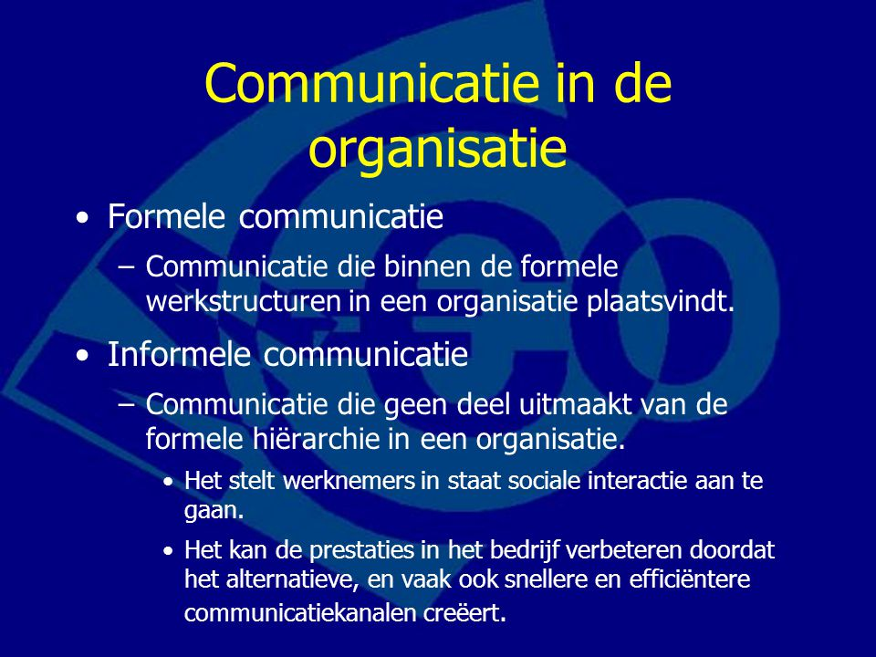 Communicatie in de organisatie