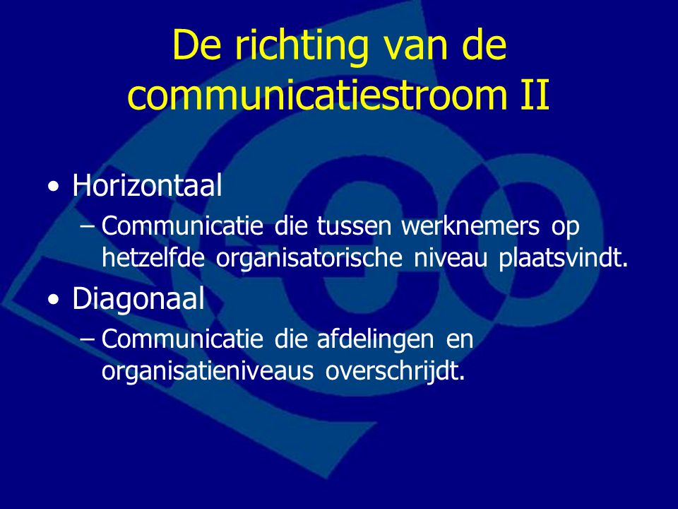 De richting van de communicatiestroom II