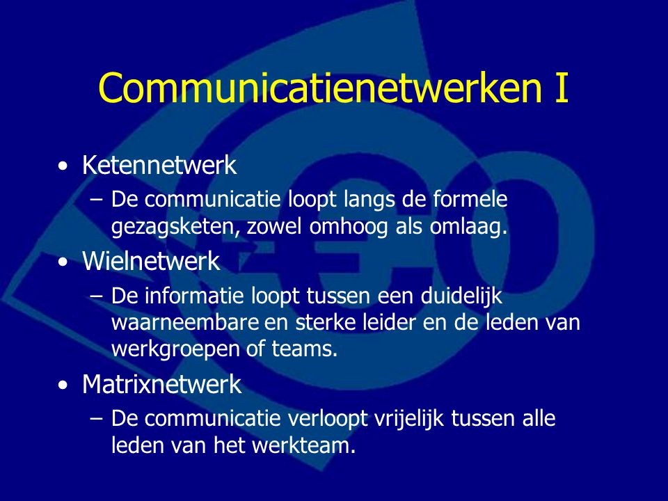 Communicatienetwerken I