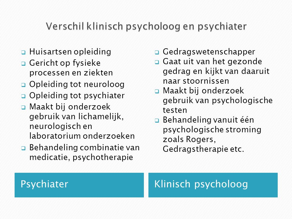 psychologe vs psychiater