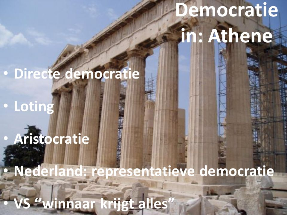Democratie in: Athene Directe democratie Loting Aristocratie