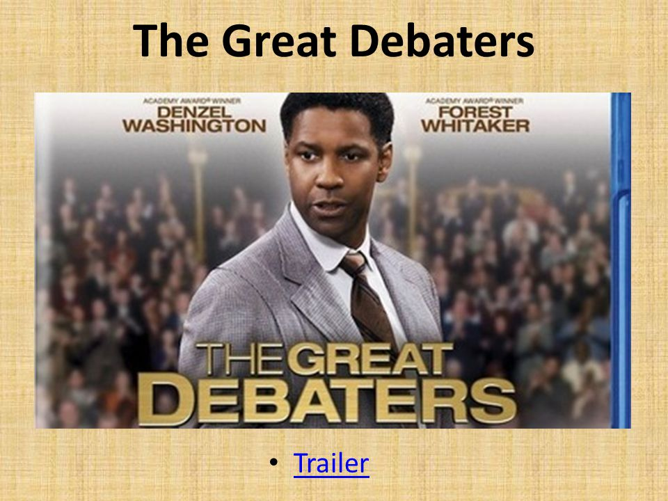 The Great Debaters Les 1-3 Trailer