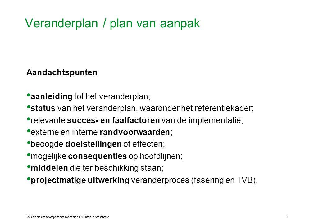 aanleiding plan van aanpak Hoofdstuk 8 Implementatie   ppt video online download aanleiding plan van aanpak