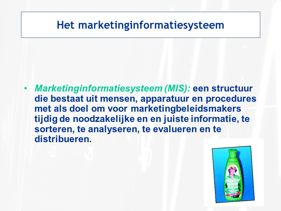 Het marketinginformatiesysteem