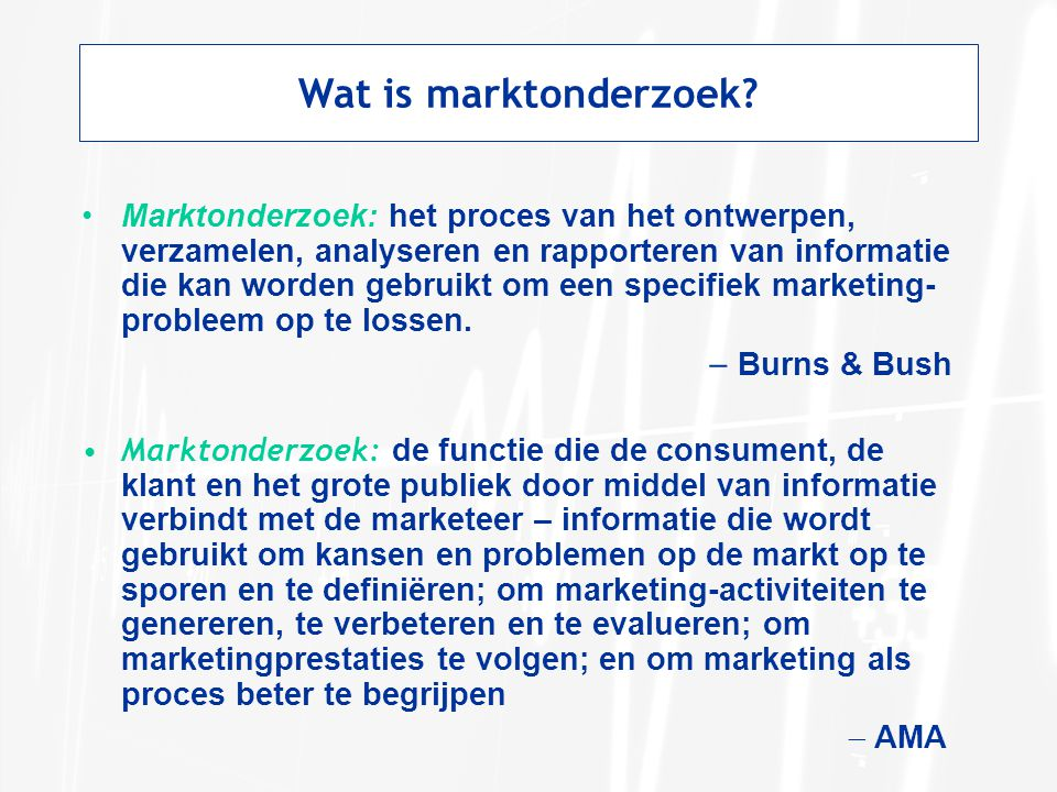 Wat is marktonderzoek
