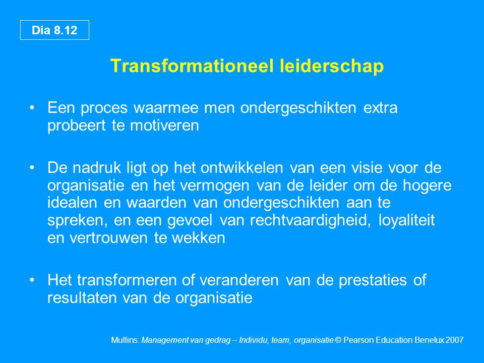 Transformationeel leiderschap