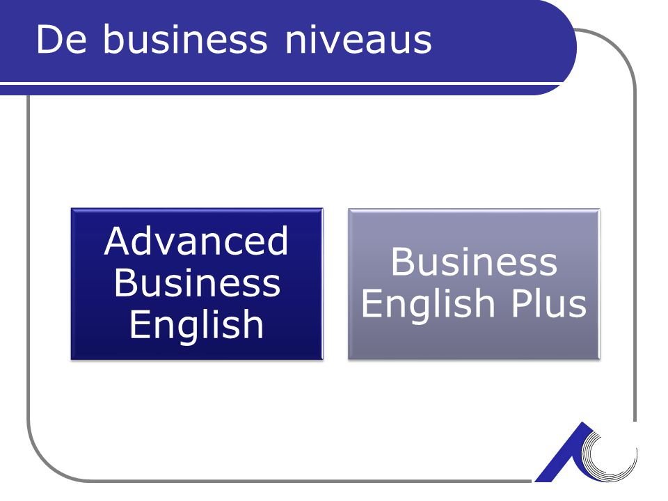 Advanced Business English