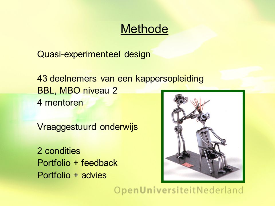 Methode Quasi-experimenteel design
