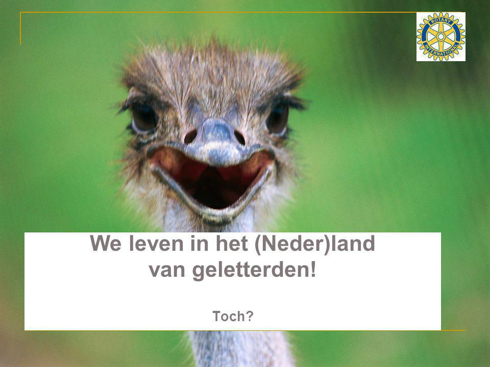 We leven in het (Neder)land