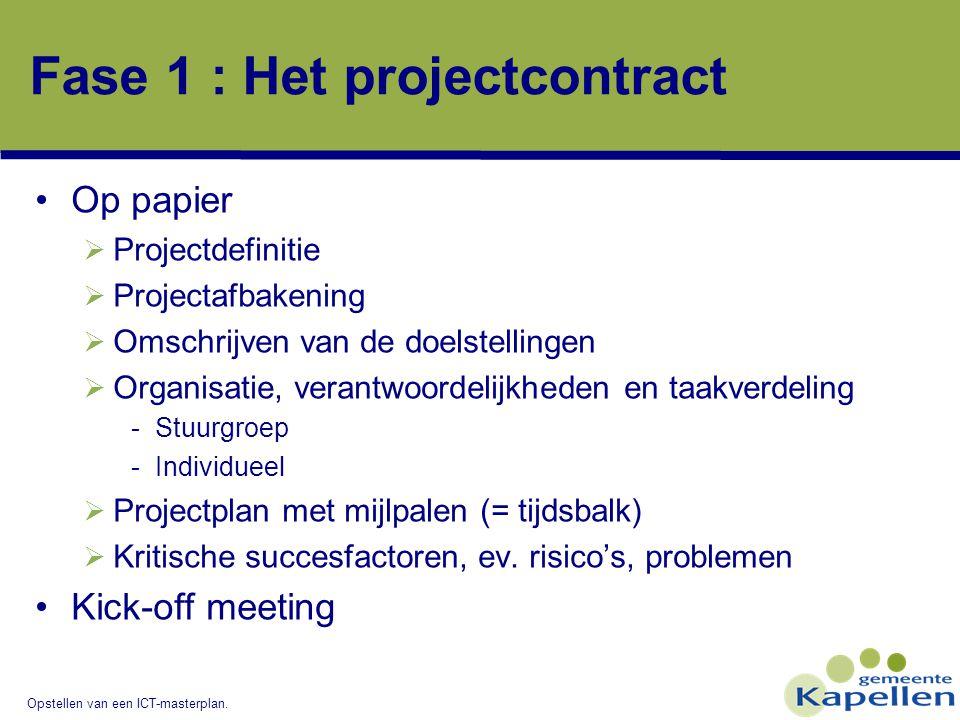 projectplan opstellen Opstellen van een ICT masterplan   ppt download
