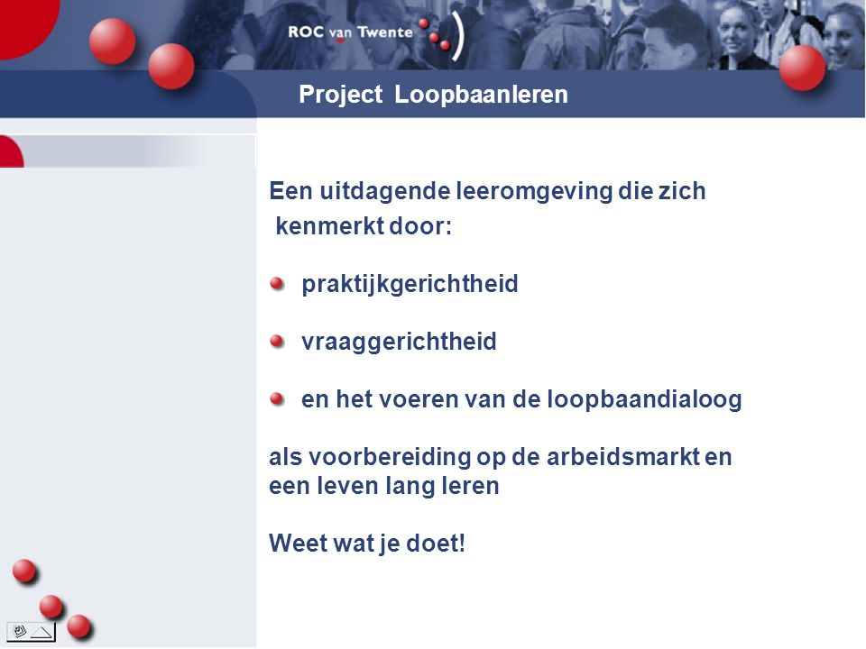 Project Loopbaanleren
