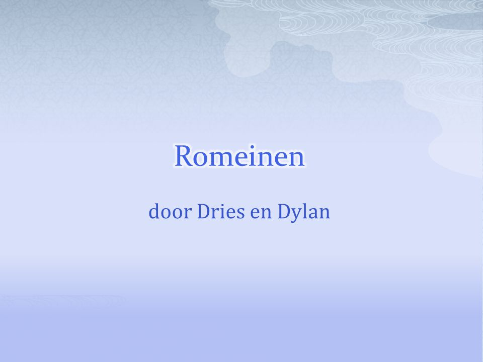 Romeinen door Dries en Dylan