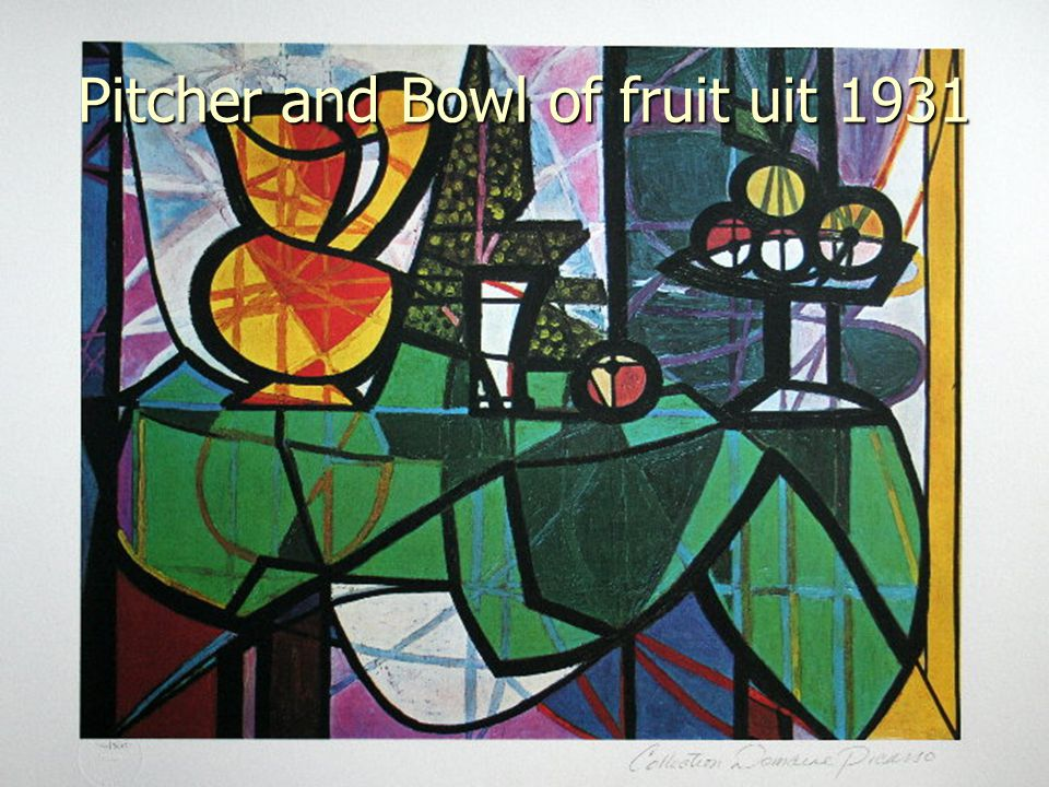 Pitcher and Bowl of fruit uit 1931