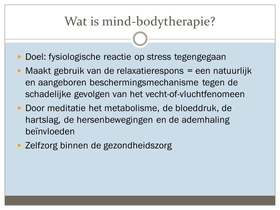 Wat is mind-bodytherapie